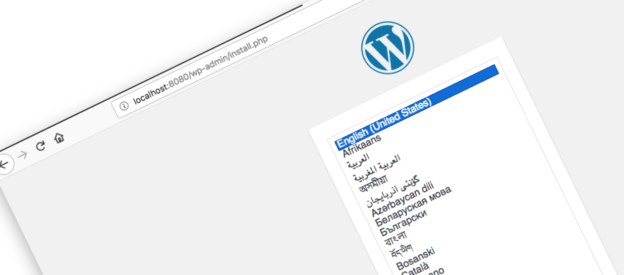 local installation of WordPress